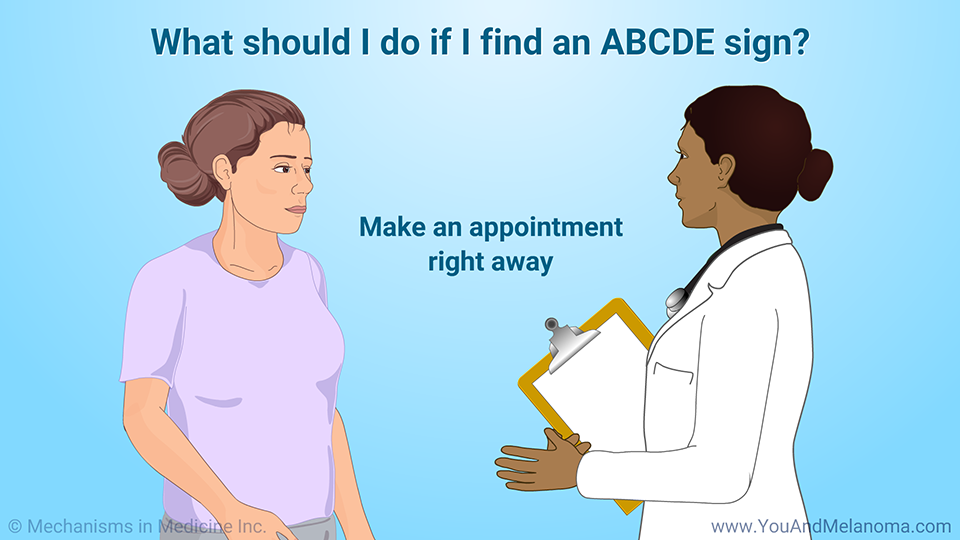What should I do if I find an ABCDE sign?